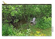 Chairs By The Creek In Summer Carry-all Pouch