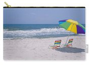 Chairs On The Beach, Gulf Of Mexico Carry-all Pouch