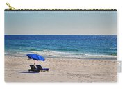 Chairs On The Beach With Umbrella Carry-all Pouch
