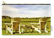 Chairs Overlooking Vineyard Carry-all Pouch
