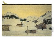 Chalets In Snow Carry-all Pouch by Giovanni Segantini