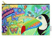 Chameleon And Toucan Carry-all Pouch