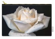 Champagne Rose Flower Macro Carry-all Pouch by Jennie Marie Schell