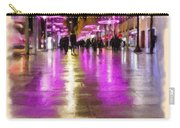 Champs Elysees In Pink Carry-all Pouch