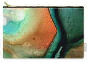 Green Abstract Art - Changing Course - Sharon Cummings Carry-all Pouch