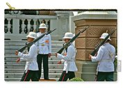 Changing Of The Guard Near Reception Hall At Grand Palace Of Thailand In Bangkok Carry-all Pouch