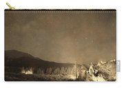 Chapel On The Rock Stary Night Portrait Monotone Carry-all Pouch by James BO  Insogna