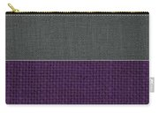 Charcoal With Purple Carry-all Pouch