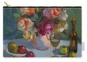Chardonnay And Roses Carry-all Pouch