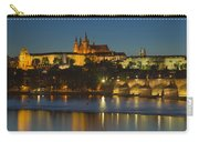 Charles Bridge And Prague Castle At Dusk  Carry-all Pouch