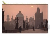 Charles Bridge At Dusk With The Church Carry-all Pouch