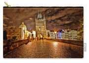 Charles Bridge At Night Carry-all Pouch by Madeline Ellis