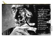 Charles Bukowski Carry-all Pouch by Richard Tito