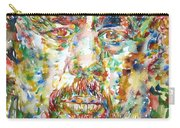 Charles Mingus Watercolor Portrait Carry-all Pouch