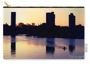 Charles River Rower At Dawn Carry-all Pouch by Kenny Glotfelty