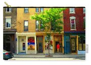 Charlevoix And Notre Dame Little Antique Shops St Henri Art Montreal Street Scene Carole Spandau Carry-all Pouch