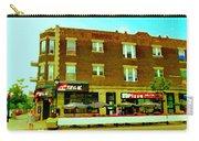 Charlevoix Pizza Et Chic Regal Rue Centre Scenes De Rue Pointe St Charles City Scenes Carole Spandau Carry-all Pouch