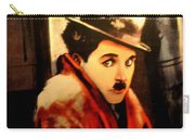 Charlie Chaplin Carry-all Pouch by Jay Milo