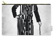 Charlie Chaplin Typography Poster Carry-all Pouch by Ayse Deniz
