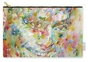Charlie Parker Watercolor Portrait Carry-all Pouch