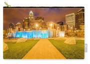 Charlotte City Skyline At Night Carry-all Pouch