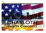 Charlotte Nc Patriotic Large Cityscape Carry-all Pouch