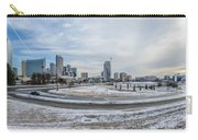 Charlotte North Carolina Skyline In Winter Carry-all Pouch