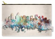 Charlotte Painted City Skyline Carry-all Pouch by World Art Prints And Designs