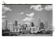 Charlotte Skyline In Black And White Carry-all Pouch