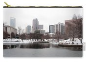 Charlotte Skyline In Snow Carry-all Pouch