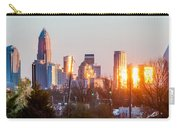 Charlotte Skyline In The Evening Before Sunset Carry-all Pouch
