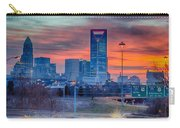 Charlotte The Queen City Skyline At Sunrise Carry-all Pouch