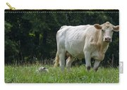 Charolais Cow And Calf In Field Carry-all Pouch