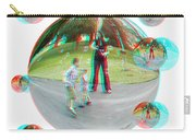Chasing Bubbles - Red/cyan Filtered 3d Glasses Required Carry-all Pouch