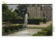 Chateau De Cheverny With Garden Fountain Carry-all Pouch