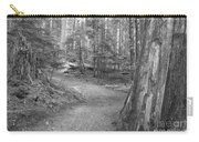 Cheakamus Trail In Black And White Carry-all Pouch