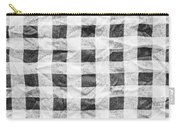Checked Cloth Carry-all Pouch