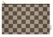 Checkerboard Pattern Fractal Flame Carry-all Pouch by Keith Webber Jr