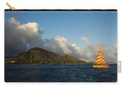 Cheerful Orange Catamaran And Diamond Head - Waikiki - Hawaii Carry-all Pouch