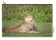 Cheetah Cub Acinonyx Jubatus Playing Carry-all Pouch