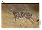 Cheetah In Grassland Kenya Carry-all Pouch