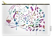 Cheetah Watercolor - White Carry-all Pouch