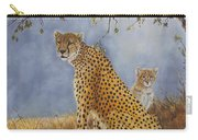 Cheetah With Cub Carry-all Pouch