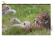 Cheetah With Cubs Carry-all Pouch