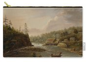 Cheevers Mill On The St. Croix River Carry-all Pouch by Henry Lewis