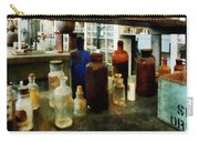 Chemistry - Assorted Chemicals In Bottles Carry-all Pouch