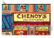 Chenoys Delicatessen Montreal Landmarks Painting  Carole Spandau Street Scene Specialist Artist Carry-all Pouch