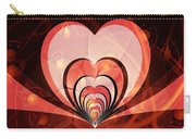 Cherries And Hearts Carry-all Pouch