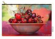 Cherries On The Table With Textures Carry-all Pouch