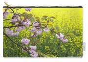 Cherry Blossom And Rapeseed Carry-all Pouch